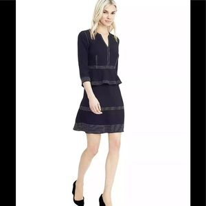 Banana Republic Stitch Dress, Preppy Navy SZ 2